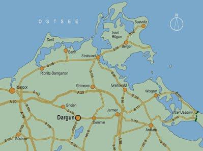 Kontakt und Anfahrt ESD GmbH Dargun aus Richtung Hamburg bzw. Berlin