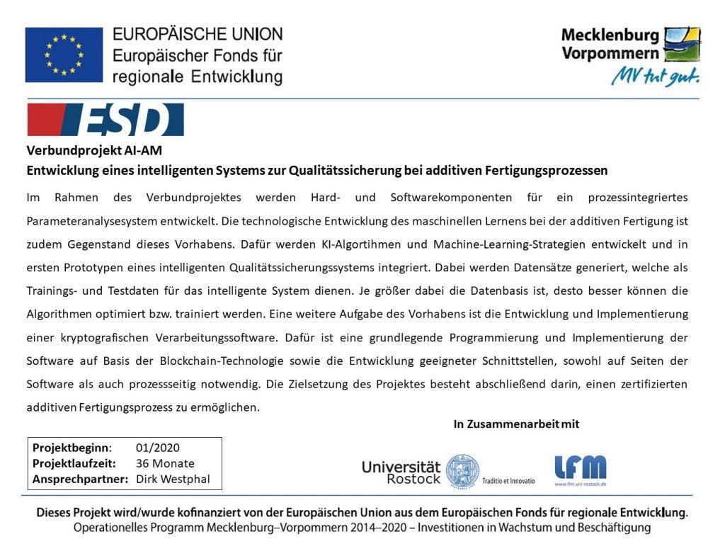 Forschung KI intelligente Qualitätssicherung ESD GmbH Dargun